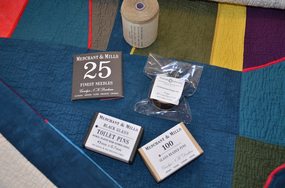 Linen threads, pins and Merchant and Mills' great needles