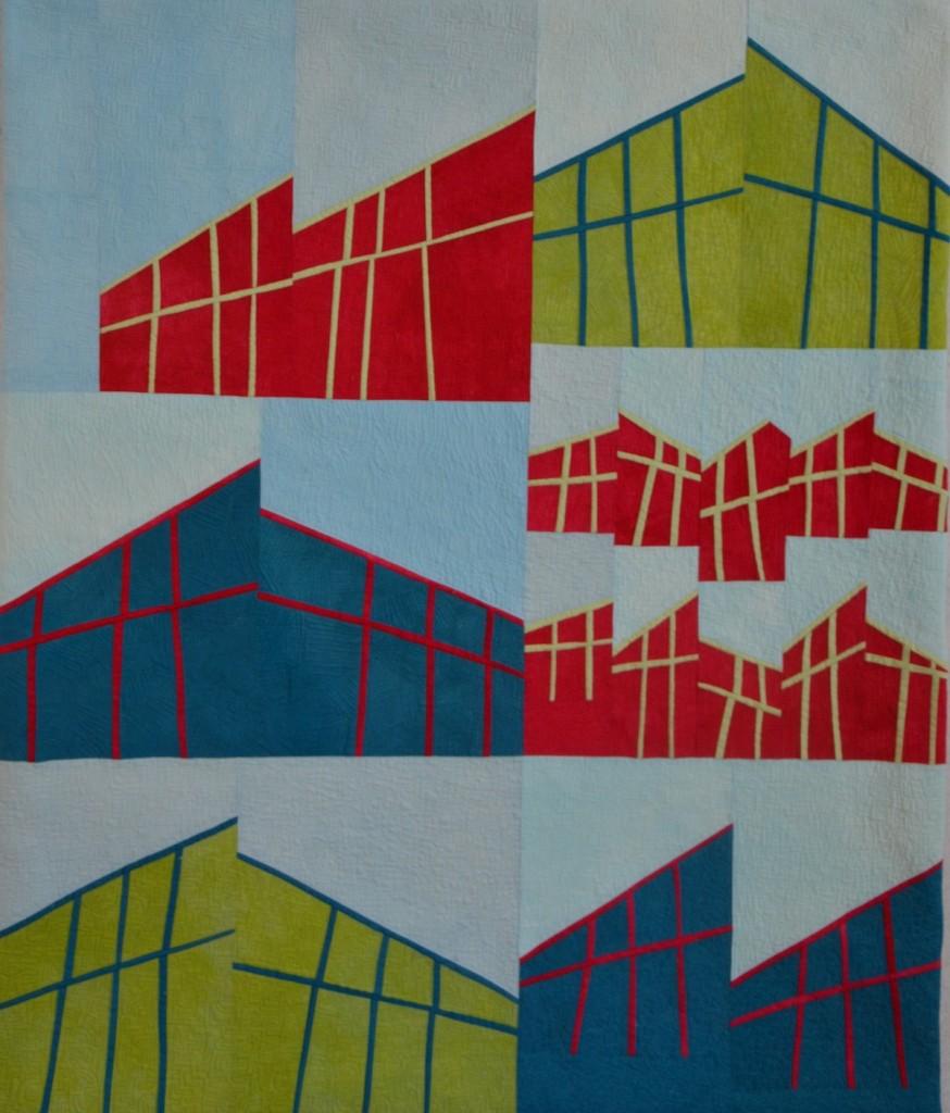 Rooflines #2, 35x42 © Colleen Kole, 2014