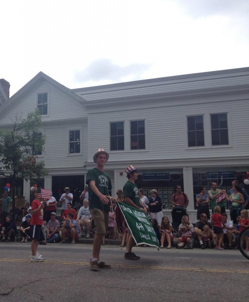 A reluctant parade participant :)