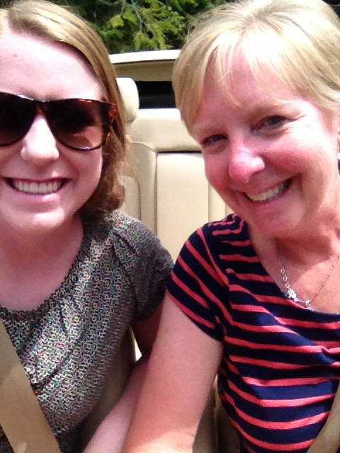 Hope and I with the top down