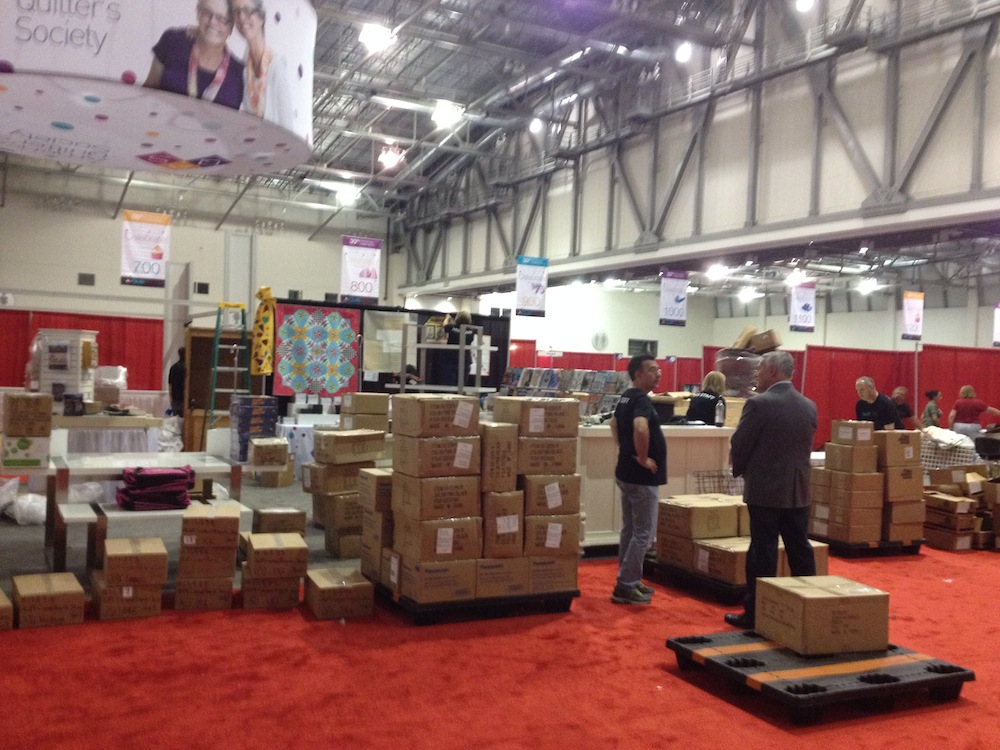 large pallets being moved in to the vendor region