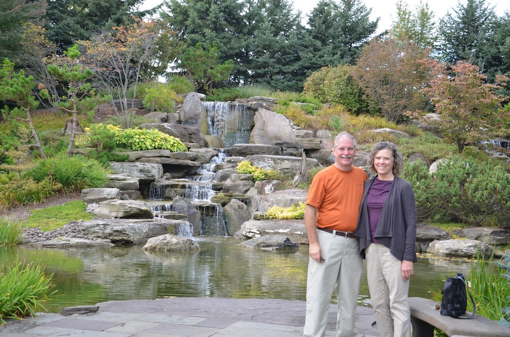 Gail and Bill at Meijer Gardens