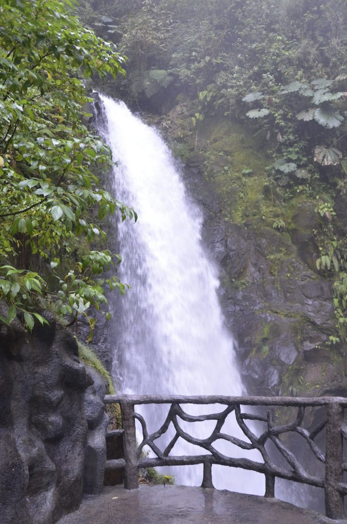 Paz waterfall -braved a high walkway to see it